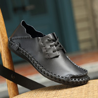 Cowskin Upper Mens Casual Shoes Black Brown Chocolate Color ...