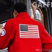 17fw Fleece Jacket Trans Antarctica Flag Jacket Men Women Co...