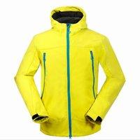 Vendi gli uomini Softshell Giacche con cappuccio impermeabile antivento all'aperto cappotto sportivo designer di lusso in pile softtshell giacca S-XXL