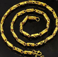 18K Gold Filled MENS ЖЕНСКИЙ КОНЦА Solid кубинские LINK ОЖЕРЕЛЬЕ ЦЕПИ 50см L N298