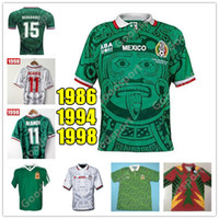 RETRO MEXICO SOCCER الفانيلة BLANCO 11 HERNANDEZ 15 كامبوس راميريز 7 بلنسية H.SANCHEZ SHIRTS 9 FOOTBALL CALCIO فوتبول 86 98 94 HOT SALE