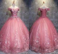 2019 Принцесса Розовое Бальное платье PROM Quinceanera Платья Сладкие 15 Формальное Платье Party Plus Page BC1718