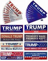 10pcs / lot Donald Trump 2020 Autoaufkleber Autoaufkleber Halten Make Amerika Große Aufkleber für Car Styling Fahrzeug Paster 7.6 * 22.9cm