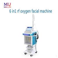 미용실에 대한 최신 2,019 다기능 6 IN1의 RF 산소 얼굴 기계 거품 물 분사 장치