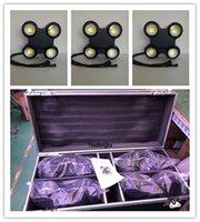 Kılıf Ip65 ile 4 parça 4 gözler led blinder işık 4x100 w rgbw dmx su geçirmez COB Led izleyici Matrix Blinder Işık