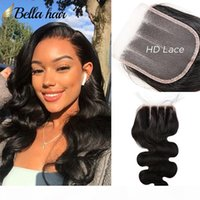 3 Part 4x4 HD Swiss Lace Closure Human Hair Body Wave with B...