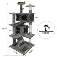 """52"""" del árbol del gato Actividad Torre Pet Muebles gatito con rascadores Escaleras"""