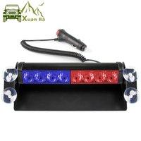 Xuanba 12 V auto camion di emergenza LED flash stroboscopio di avvertimento della barra di avvertimento 8 leds rosso blu LED della polizia Auto DRL Luci di marcia diurna diurna