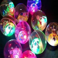 Bola De Cristal De brilho Brilhante Bola Elástica Bounce Salto Bola Flash de Brinquedos Infantis Barraca Fontes de Água Polo