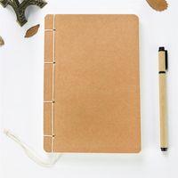 Nähen Vorstellungen Werkzeuge handgemachtes Thread-gebundene Notebook Retro Kraftpapier leer in der Seite imitierten antiken Skizzenbuch kreativer DIY