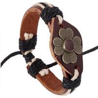 12pcs / Lot Gothic Style Vintage натуральная кожа браслет мужской Женщины Мужчины Бронзовый Череп Rivet Широкий ремень манжеты браслет 5 Типы