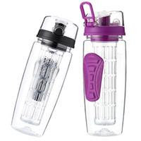 32 OZ Spor Meyve Demlik Su Şişesi Çevirme Üst Kapak Çift Kaymaz Sapları BPA Ücretsiz Demlik Su Şişesi