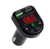 BTE5 سيارة مشغل MP3 بلوتوث FM الارسال سيارة FM المغير المزدوج USB شحن ميناء لمدة 12-24V سيارة عامة