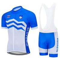 Moxilyn 2020 Takım Slovenya Bisiklet Jersey 9D önlük Seti MTB Bisiklet Giyim Nefes Bisiklet Giyim Erkekler Kısa Maillot Culotte
