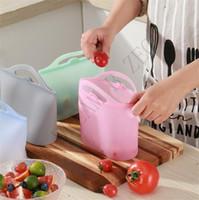 FDA многоразовая силиконовая еда Сохранительная сумка Герметичное уплотнение Пищевые свежие контейнер для хранения Универсальная варочная сумка силиконовая еда свежая сумка