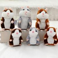 3 colores 16 m hablando de hámster juguetes de fiesta de felpa hablar de sonido registro de hámster de peluche animales niños regalos de Navidad con paquete de opp 10 unids