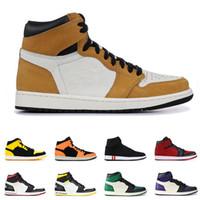 جديد 1 1S منتصف كرة السلة أحذية الرجال ROOKIE OF THE YEAR ROOKIE الحب OF THE YEAR مصمم GYM RED رجالي الرياضة