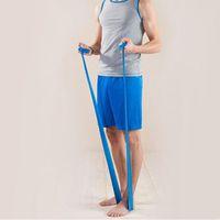 1.2m Yoga Pilates Stretch Resistance Band Workout Elastic Exercise Training Rubber Arm Back Leg Fitness Band Strap Random Color