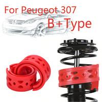 Jinke 1 par Tamanho-B + Choque Traseiro SEBS Bumper Power Almofada Absorvente Tampão Da Mola Para Peugeot 307