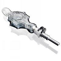 Conjunto de kit de néctar PERC Titanio Cuarzo Cubiertas de Cuarzo Recoger Gafas Gruesas Pipas de Burner Pipes Agua Bongs Fumar Glass Pipe Tobacco
