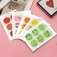 6000 PCS (1 jeu = 6 pcs) Anti Mosquito Patch autocollant Citronnelle de tueur de moustique sourire face anti-moustique
