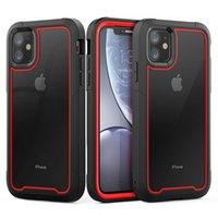 Caso a prueba de golpes armadura nuevo teléfono para el iPhone 11 híbrida Transparente TPU cubierta para el 11 Pro XS 8 Caso claro Max 7plus iPhone XR XS MAX