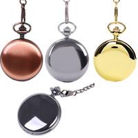 Femmes Hommes Pocket Watch Retro Bronze Tone Bronze Shape Share Spider Modèle Montres avec collier à chaîne Horloge