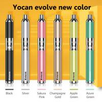1 قطعة أصيلة yocan تتطور الكوارتز المزدوج لفائف الشمع dab القلم عدة vape الأقلام e السجائر أطقم yocan تتطور زائد vape خراطيش مجانية