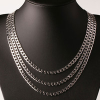 Kasanier الفضة 6 ملليمتر واسعة الرجال قلادة figaro سلسلة الفضة 16-24 بوصة قلادة الأزياء والمجوهرات الرجال والنساء حزب حلي المجوهرات