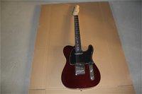 свободная перевозка груза TL темно-красный коричневый гитара, липы тело, кленовый гриф, розового дерева грифа, хром оборудование, Н черный пикап белого связывания