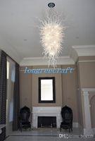 Envío gratuito soplado 110V / 120V LED Bombillas Hotel New Light Villa Vestíbulo luz de techo colgante grande