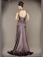 Applique Lace Dress Abendkleid mit kurzen Ärmeln Abendkleider 2019 New Elegant High Neck Mermaid Abendkleider 234