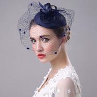 Accessori per capelli, Capelli da donna Capelli Capelli, Clip Piume Cappello in lino, per Bridal, Festa di banchetto, Decorazione Lady