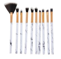 Hot Health Beauty 10Pcs set Make up brush Multifuncional Corrector Eyeshadow Brush Set Brush herramienta de maquillaje