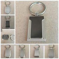 Métal sur mesure Blank Tag porte-clés personnalisés clés en acier inoxydable anneau Creative voiture Keychain d'affaires publicitaire pour la promotion LXL924-1
