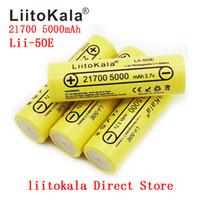 Liitokala LII-50E 21700 5000 mAh batteria ricaricabile 40A 3,7 V 10c scarica batterie ad alta potenza per elettrodomestici ad alta potenza