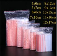 100pcs / imballare piccola serratura della chiusura lampo sacchetti di plastica richiudibile trasparente Shoe Bag sacco a vuoto di immagazzinaggio Poli sacchetto trasparente Borse 0,05 millimetri di spessore