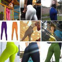 Mujeres honeycomb yoga leggins impresos fitness leggings flaco alta cintura elástica empuje hacia arriba gimnasio deporte pantalones mujeres entrenamiento fondos AAA1458