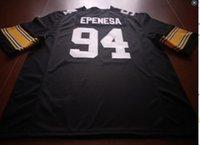Пользовательские мужчины молодежь женщины #94 A. J. Epenesa Iowa Hawkeyes футбол Джерси размер s-4XL или пользовательские любое имя или номер Джерси