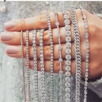 20 Estilo espumoso Cristal de lujo 925 Forma de múltiples pulsera de plata esterlina Topaz blanco Diamante CZ piedras preciosas mujeres novia del regalo del amante Para