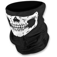 Máscaras del deporte al aire cráneo mitad de la cara máscara del fantasma de la bufanda multi uso del calentador del cuello de la bicicleta del esquí de la cara