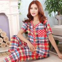 Autumn large big size M- 4XL sleepwear women' s summer 10...