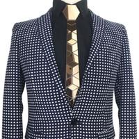 Luxe acrylique Cravate Slim Fit ronce de noyer brun Miroir hexagonaux cravate style vintage cravate Bling Led cadeau à la main métallique été Accessoires