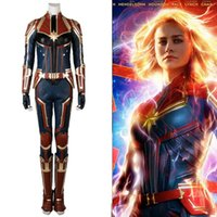 New Captain Marvel Carol Danvers Cosplay Costume Deluxe Leat...