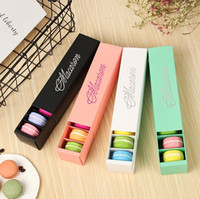 Macaron Box Cake Boxes Hecho en casa Macaron Cajas de chocolate Biscuit Muffin Box Retail Paper Packaging 5 colores