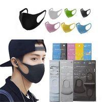DHL della nave Stock Bocca Maschera Nera miscela del cotone antipolvere e la protezione del naso K-POP mascherina mascherine Moda riutilizzabili per uomo donna