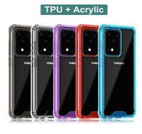 Transparente Acrílico claro TPU PC Phone Case à prova de choque para Samsung Galaxy S20 Além disso S20 Ultra S11 Nota 10 Pro S10 Mais de A30 A50S