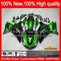 OEM iniezione per Kawasaki ZZR1400 ZX 14R 2006 2007 2008 2009 2010 2011 49HC.22 ZX14R ZZR1400 verde ZX14R nero 06 07 08 09 10 11 carenatura