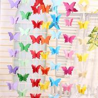 Ornamento de suspensão Vitrine Comercial Puxe Flor de Cordas Papel borboleta colorido do partido Crianças quarto casamento Decore aniversário 3 5yjC1