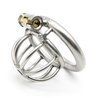 Happygo ، جهاز صغير الحجم من الفولاذ المقاوم للصدأ للذكور ، قفص الديك ، قفل العذرية ، قفل القضيب ، خاتم الديك ، حزام العفة ، A282 D19011105